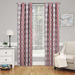 Eclipse Morrow 63-Inch Rod Pocket Room Darkening Window Curtain Panel in Red