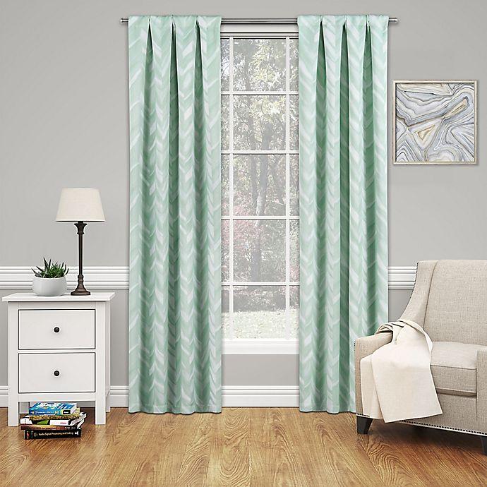 Alternate image 1 for SolarShield® Dezi 95-Inch Rod Pocket Room Darkening Window Curtain Panel in Mint