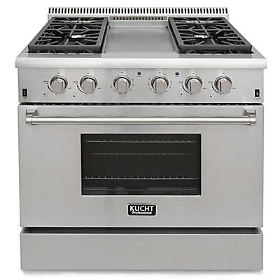 Kucht Pro-Style 36-Inch 5.2 cu. ft. Gas Range with Griddle in Stainless Steel