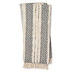 Magnolia Home by Joanna Gaines Colleen Throw Blanket in Black/Ivory