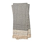 Magnolia Home by Joanna Gaines Mackie Throw Blanket in Black/Ivory<table></table>