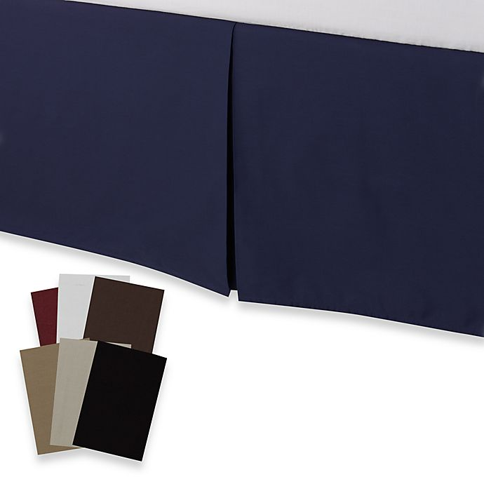 """Deep Ocean Blue bedskirt King Bed Skirt NEW dust ruffle by The Company Store 14/"""""""