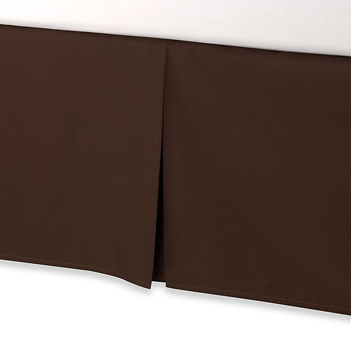 Alternate image 1 for smoothweave™ Tailored 18-Inch Twin Bed Skirt in Chocolate