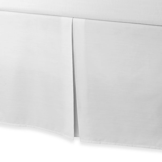 Alternate image 1 for smoothweave™ Tailored 18-Inch Twin Bed Skirt in White