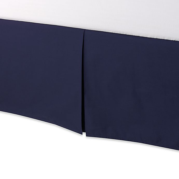 Alternate image 1 for smoothweave™ Tailored 18-Inch Twin Bed Skirt in Navy