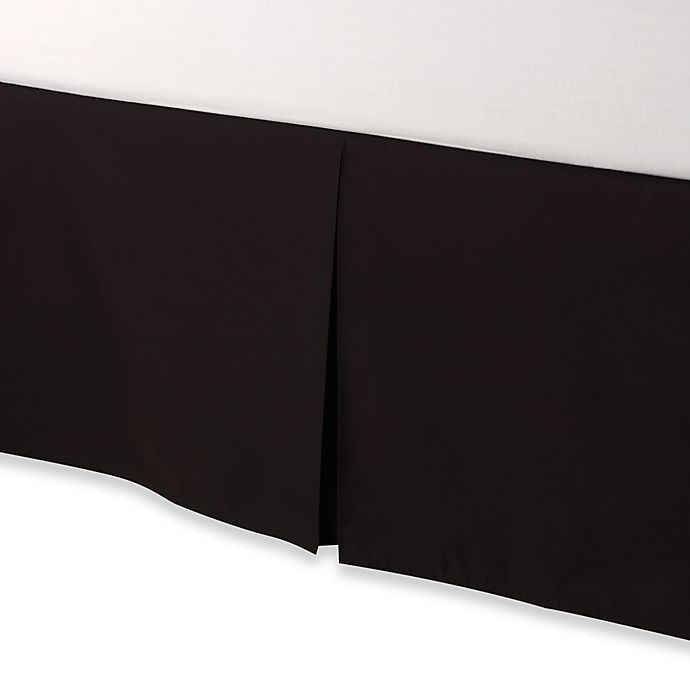 Alternate image 1 for smoothweave™ Tailored 18-Inch Twin Bed Skirt in Black