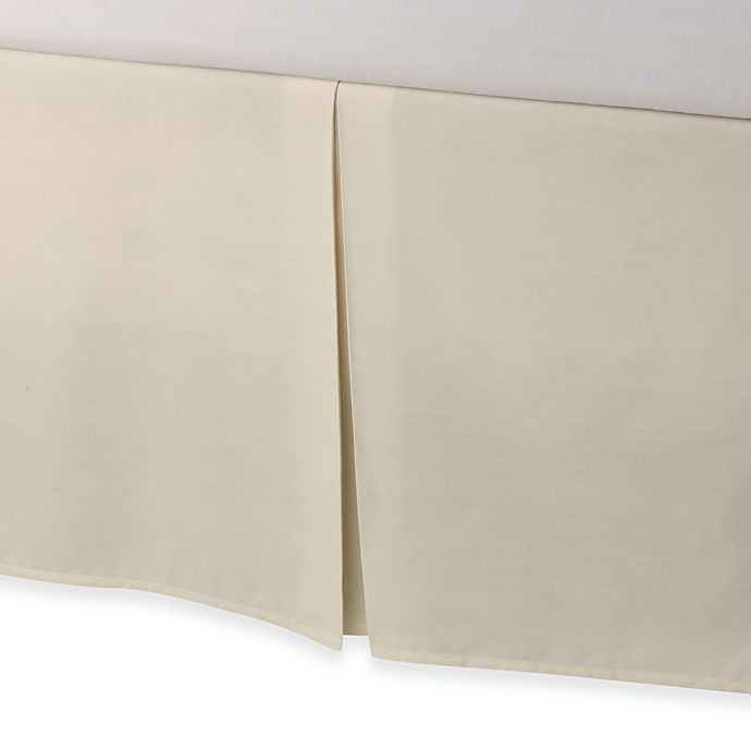 Alternate image 1 for smoothweave™ Tailored 18-Inch King Bed Skirt in Ivory