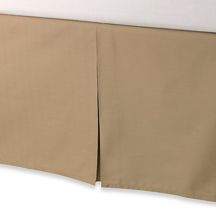 Alternate image 1 for smoothweave™ Tailored 18-Inch Twin Bed Skirt in Mocha