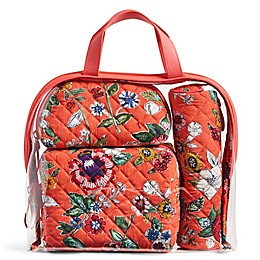 Vera Bradley® 4-Piece Travel Cosmetic Set in Coral Floral