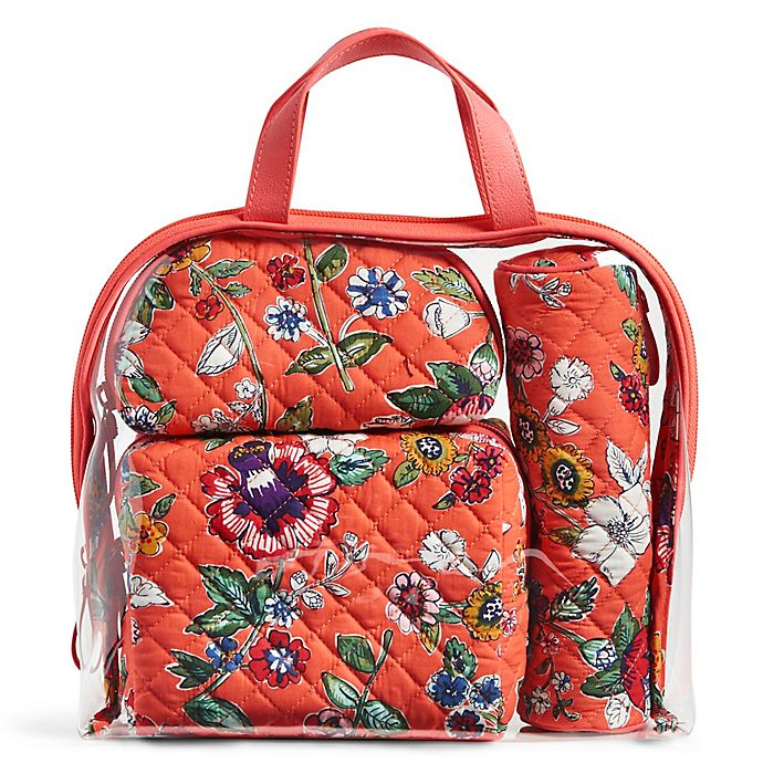 Alternate image 1 for Vera Bradley® 4-Piece Travel Cosmetic Set in Coral Floral