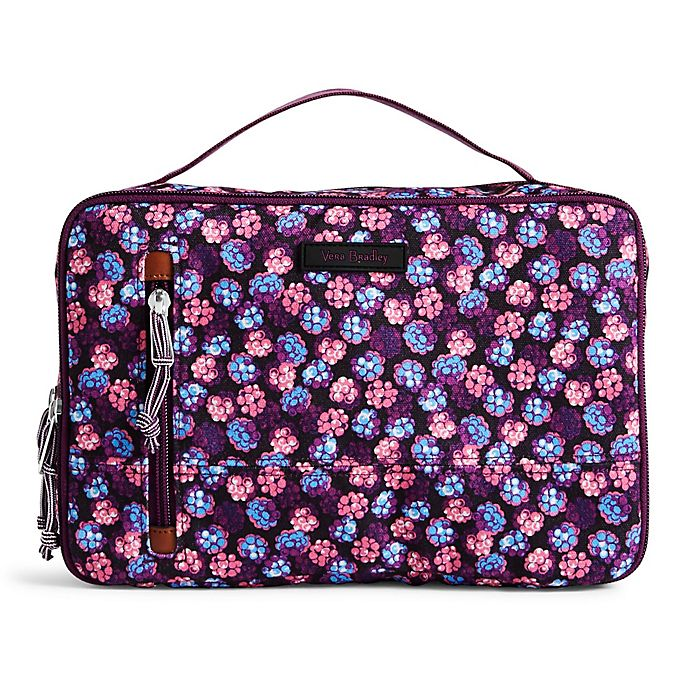 Alternate image 1 for Vera Bradley® Lighten Up Large Brush and Blush Case in Berry Burst