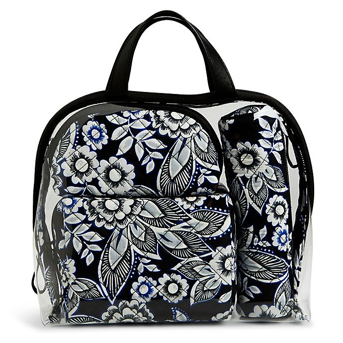 Alternate image 1 for Vera Bradley® 4-Piece Travel Cosmetic Set in Snow Lotus