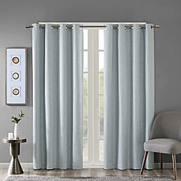 SunSmart Maya Heathered Grommet-Top Room Darkening Window Curtain Panel