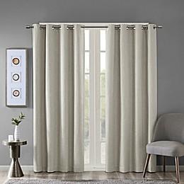 SunSmart Maya Heathered Grommet-Top Room Darkening Window Curtain Panel