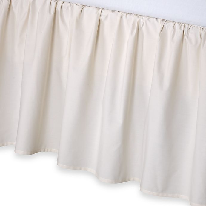 Alternate image 1 for smoothweave™ 21-Inch Ruffled Twin Bed Skirt in Ivory