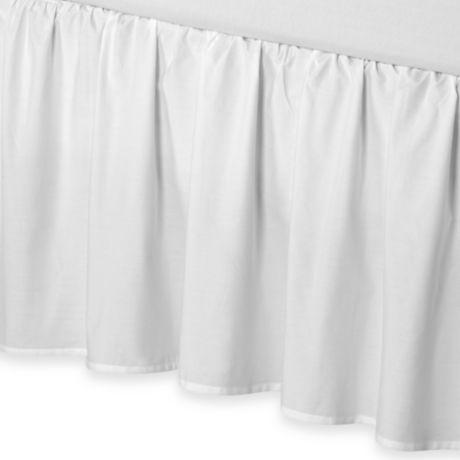 "Full Bridal Satin Dust Ruffle Bedskirt 18/"" 21/"" drop length 14/"""