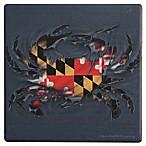 Thirstystone® Dolomite Ripped Maryland Crab Single Round Coaster