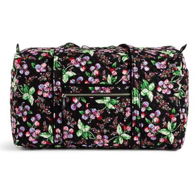 Vera Bradley 174 Iconic Large Duffel Bag In Winterberry Bed