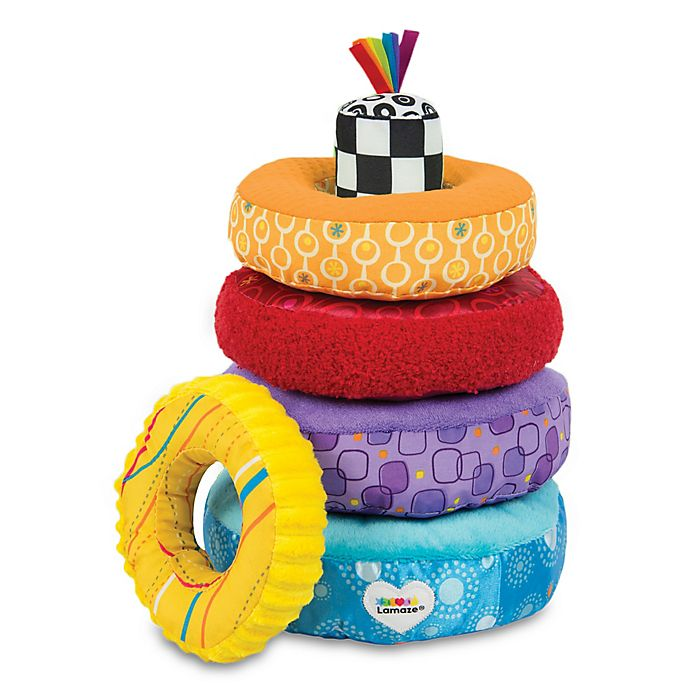 Alternate image 1 for Lamaze® Rainbow Stacking Rings