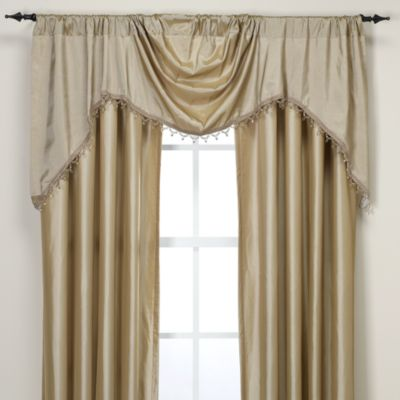 Argentina Shaped Valance With Beaded Trim Bed Bath Amp Beyond