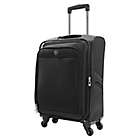Alternate image 1 for Travelers Club® Merit 20-Inch Upright Spinner Carry On in Black