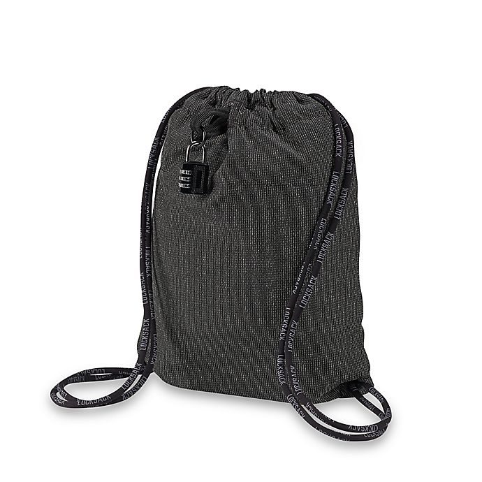 LocTote Industrial Bag Co.® Lock Sack 17.5-Inch Theft-Resistant Backpack in  Dark Grey 148a91e04da36