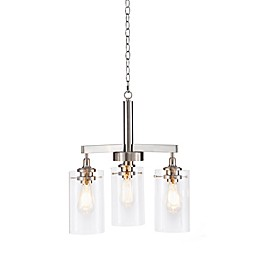 Madison Park Signature Halsey 3-Light Chandelier in Silver