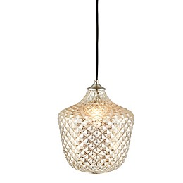 Madison Park Alexandria 1-Light Rounded Pendant Light in Silver
