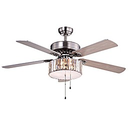 Kimalex 52-Inch 3-Light Ceiling Fan in Nickel
