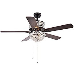 Laure 52-Inch 6-Light Ceiling Fan in Black