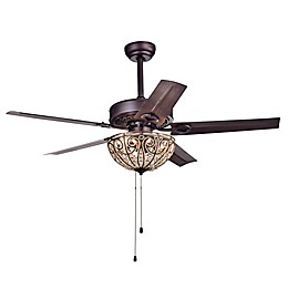 Catalina 52-Inch 3-Light Ceiling Fan in Bronze