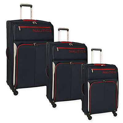 Nautica® Ashore Expandable Spinner Luggage in Navy/Silver