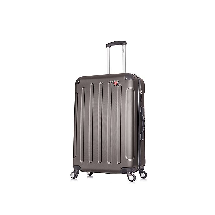 Alternate image 1 for DUKAP® Intely 28-Inch Hardside Spinner Checked Luggage with Weight Scale in Grey