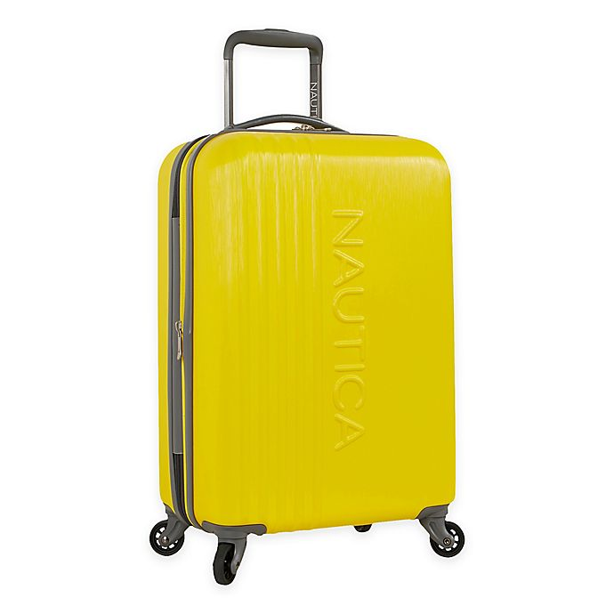 Alternate image 1 for Nautica® Life Boat 20-Inch Hardside Spinner Carry On Luggage in Yellow/Grey
