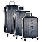 Nautica® Life Boat 3-Piece Hardside Spinner Luggage Set in Navy/Grey