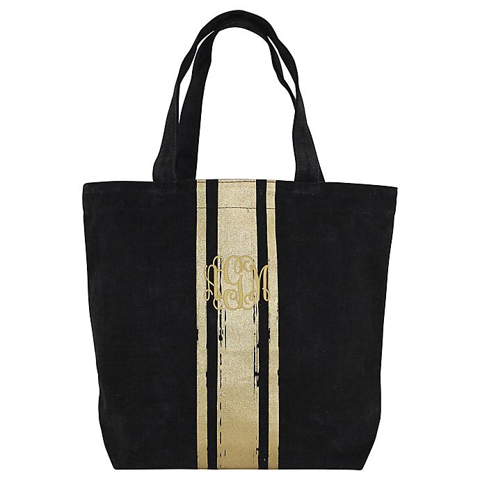 Alternate image 1 for CB Station Brushed Canvas with Paintstroke Stripes Tote