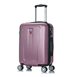 DUKAP® Crypto 20-Inch Hardside Spinner Carry On Luggage in Rose Gold