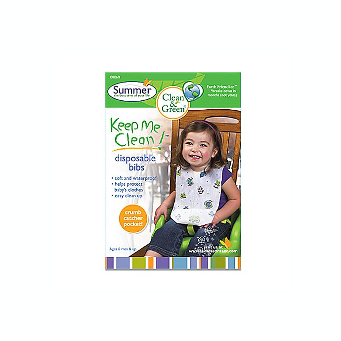 Alternate image 1 for Summer® Keep Me Clean™ 20-Count Disposable Bibs