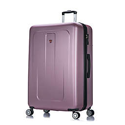 DUKAP® Crypto 32-Inch Hardside Spinner Checked Luggage in Rose Gold