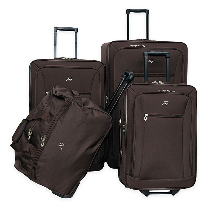 Alternate image 1 for American Flyer Brooklyn 4-Piece Rolling Luggage Set