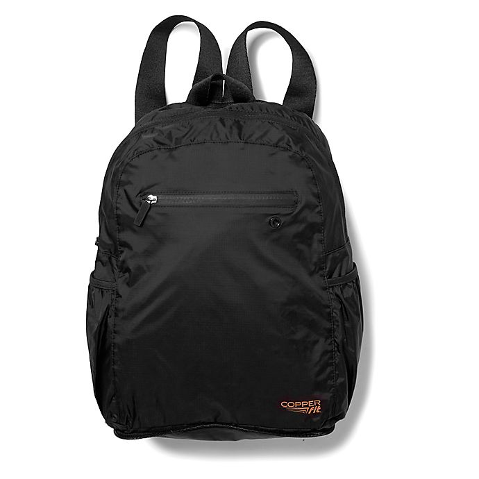 Alternate image 1 for Copper Fit® 15.5-Inch Packable Backpack in Black
