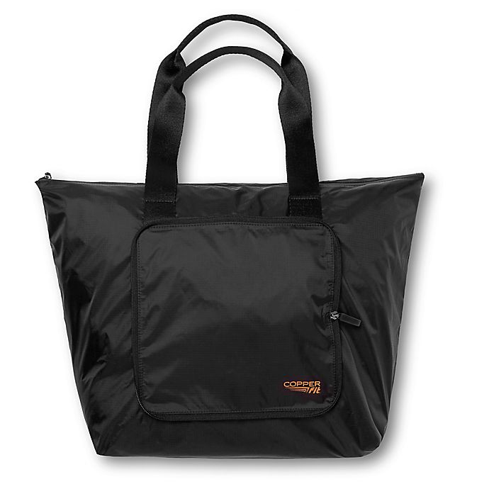 Alternate image 1 for Copper Fit® 14-Inch Packable Tote in Black