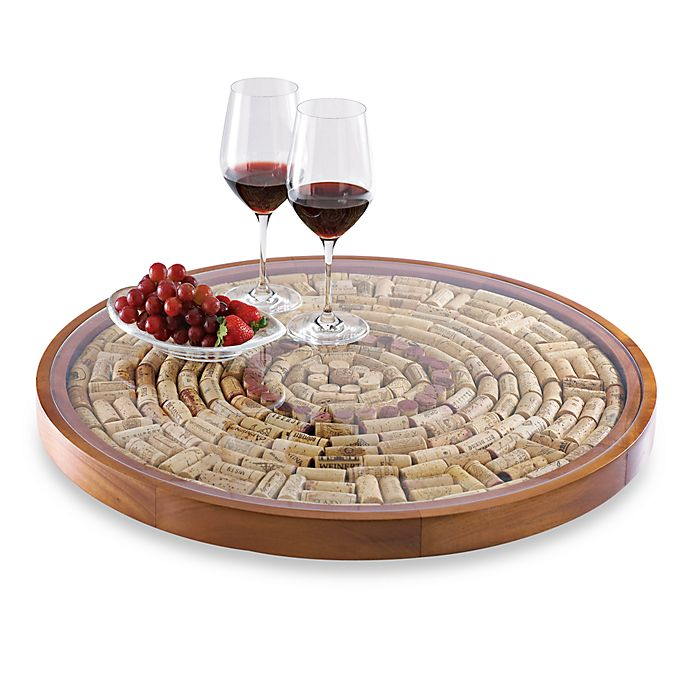 Alternate image 1 for Wine Enthusiast Wine Cork Lazy Susan Kit