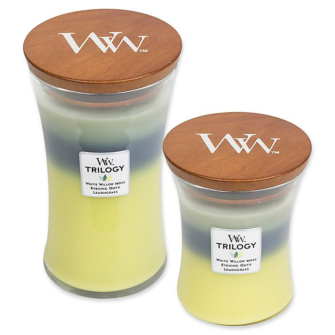 WOODWICK MEDIUM TRIOLOGY CANDLE NEW WITH LID