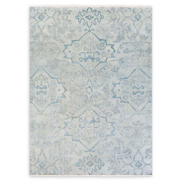 Alternate image 1 for Surya Hillcrest Medallion 8' x 11' Area Rug in Dark Blue/Aqua