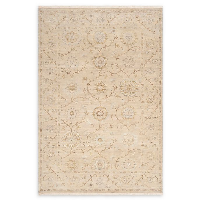 Alternate image 1 for Surya Cambridge Floral and Vine 9' x 13' Hand Knotted Area Rug in Khaki/Taupe