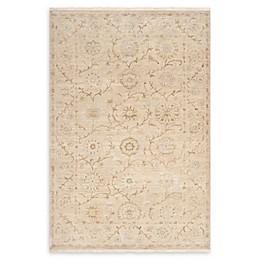 Surya Cambridge Floral and Vine Hand Knotted Rug in Khaki/Taupe