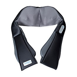 Aurora Health and Beauty® Cordless Neck and Back Shiatsu Massager in Black/Grey