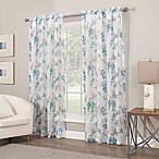 Crushed Voile Print 84-Inch Sheer Window Curtain Panel in Jade