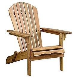 Acacia Wood Adirondack Folding Chair